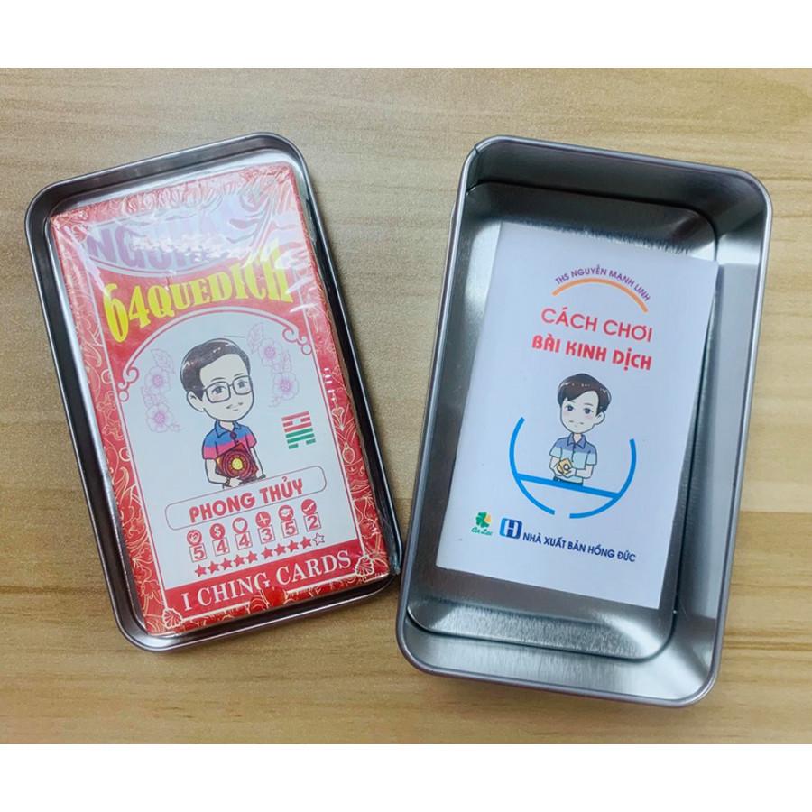 Set quà tặng Bộ bài 64 quẻ Dịch + Hộp kim loại + Sách hướng dẫn mini