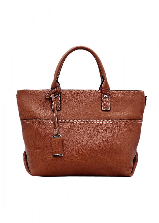 Túi xách tay nữ da bò thật màu nâu bò ET649