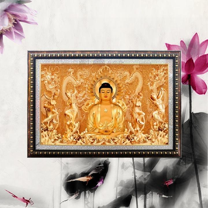 Tranh đính đá thành phẩm - tranh phong thuỷ hình Phật Adida khung gỗ kèm đèn led - TDD20 - 1814413 , 5413529004001 , 62_13325693 , 7400000 , Tranh-dinh-da-thanh-pham-tranh-phong-thuy-hinh-Phat-Adida-khung-go-kem-den-led-TDD20-62_13325693 , tiki.vn , Tranh đính đá thành phẩm - tranh phong thuỷ hình Phật Adida khung gỗ kèm đèn led - TDD20