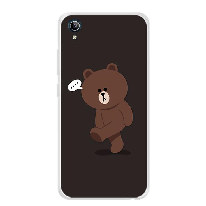 Ốp lưng dẻo cho điện thoại Vivo Y91C - 0085 GAUBROWN01 - Hàng Chính Hãng