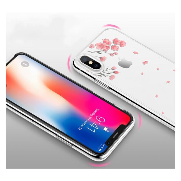 Ốp Lưng Silicone Dành Cho iPhone X ESR - Hoạ Tiết Hoa Anh Đào