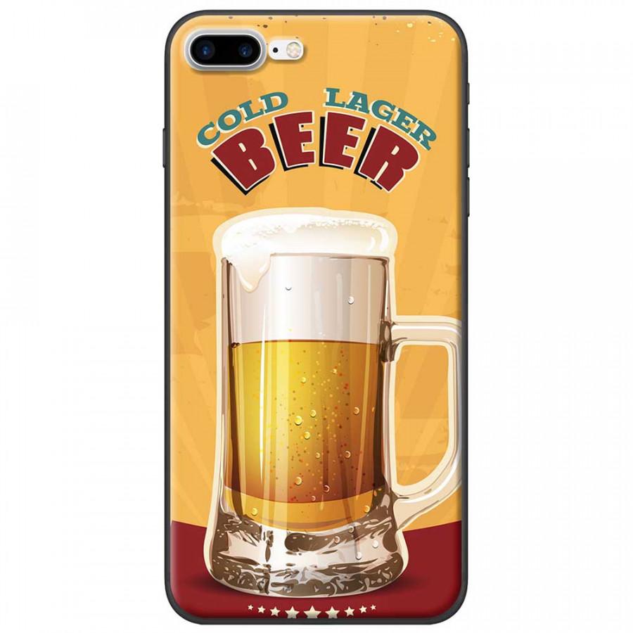 Ốp lưng dành cho iPhone 7 Plus mẫu Ly bia nền vàng