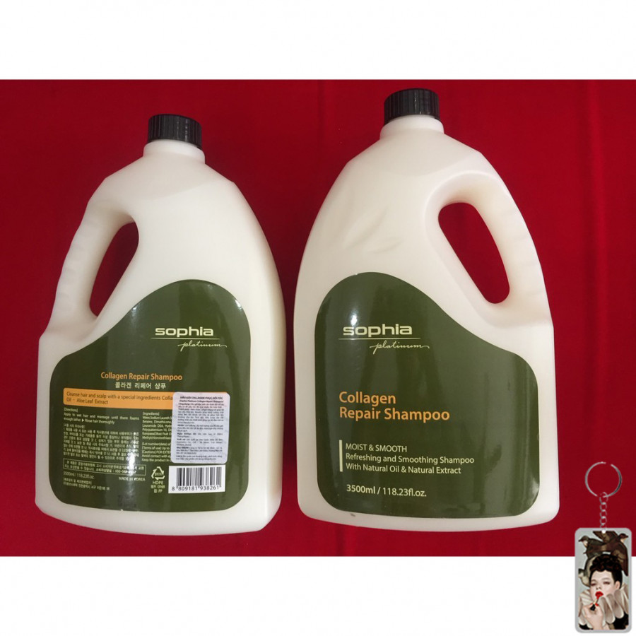Cặp dầu gội /xả Sophia Collagen Repair phục hồi tóc hư tổn Hàn Quốc 3500ml tặng kèm móc khoá - 9609597 , 7062659939363 , 62_19384517 , 4000000 , Cap-dau-goi-xa-Sophia-Collagen-Repair-phuc-hoi-toc-hu-ton-Han-Quoc-3500ml-tang-kem-moc-khoa-62_19384517 , tiki.vn , Cặp dầu gội /xả Sophia Collagen Repair phục hồi tóc hư tổn Hàn Quốc 3500ml tặng kèm
