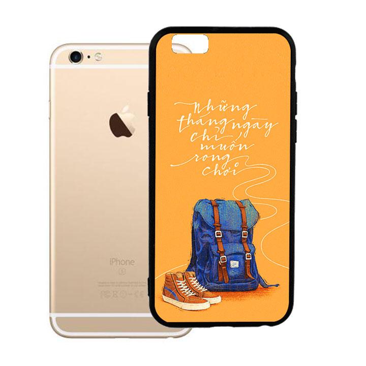 Ốp lưng viền TPU cao cấp dành cho iPhone 6 Plus - Tháng Ngày Rong Chơi
