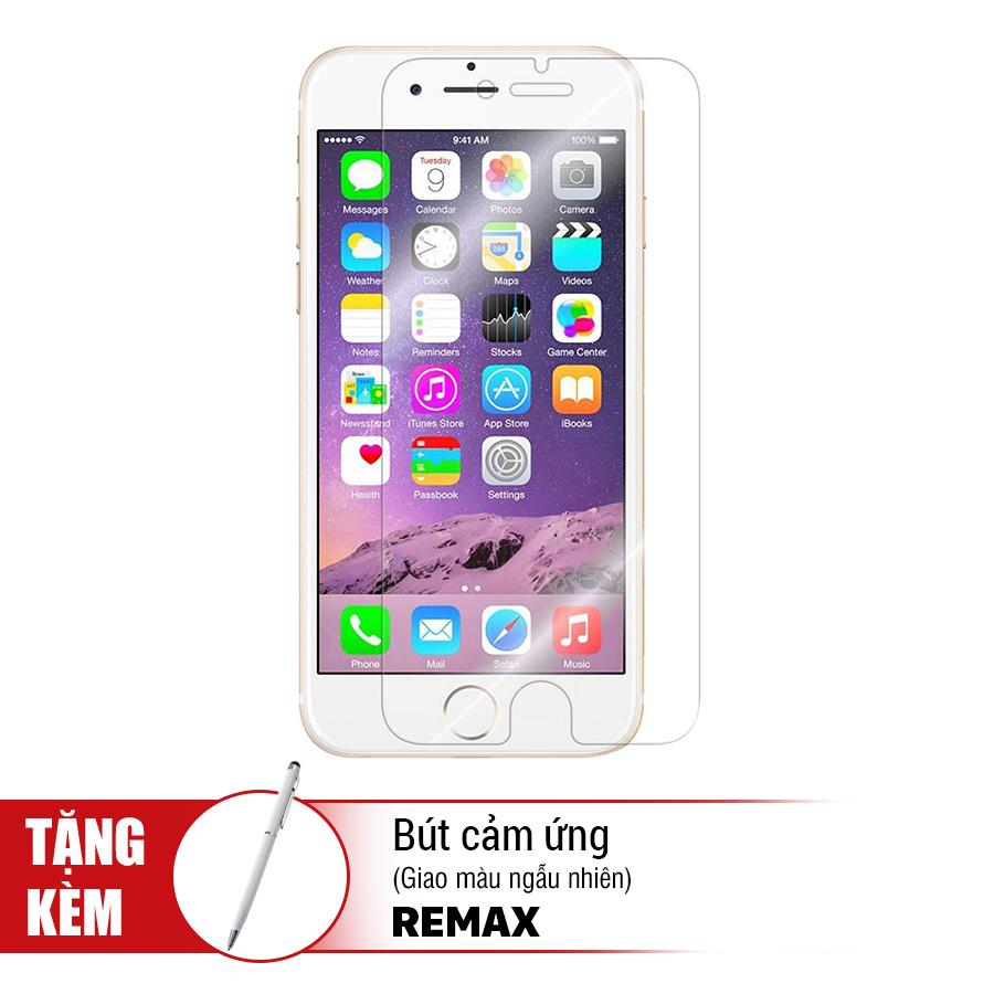 Kính Cường Lực iPhone 6 Plus / 6S Plus Remax (Trong Suốt) + Tặng Bút Cảm Ứng - Hàng Chính Hãng