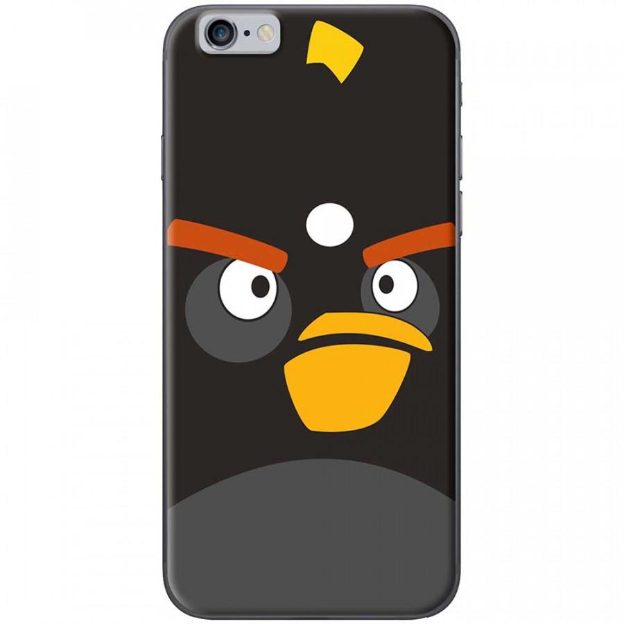 Ốp lưng dành cho iPhone 6, iPhone 6S mẫu Mặt Angry bird đen
