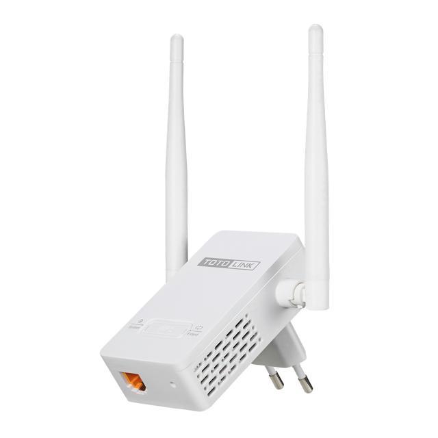 Bộ Mở Rộng Sóng Wifi Totolink EX200 300Mbps 2 Râu (nguồn 220V)