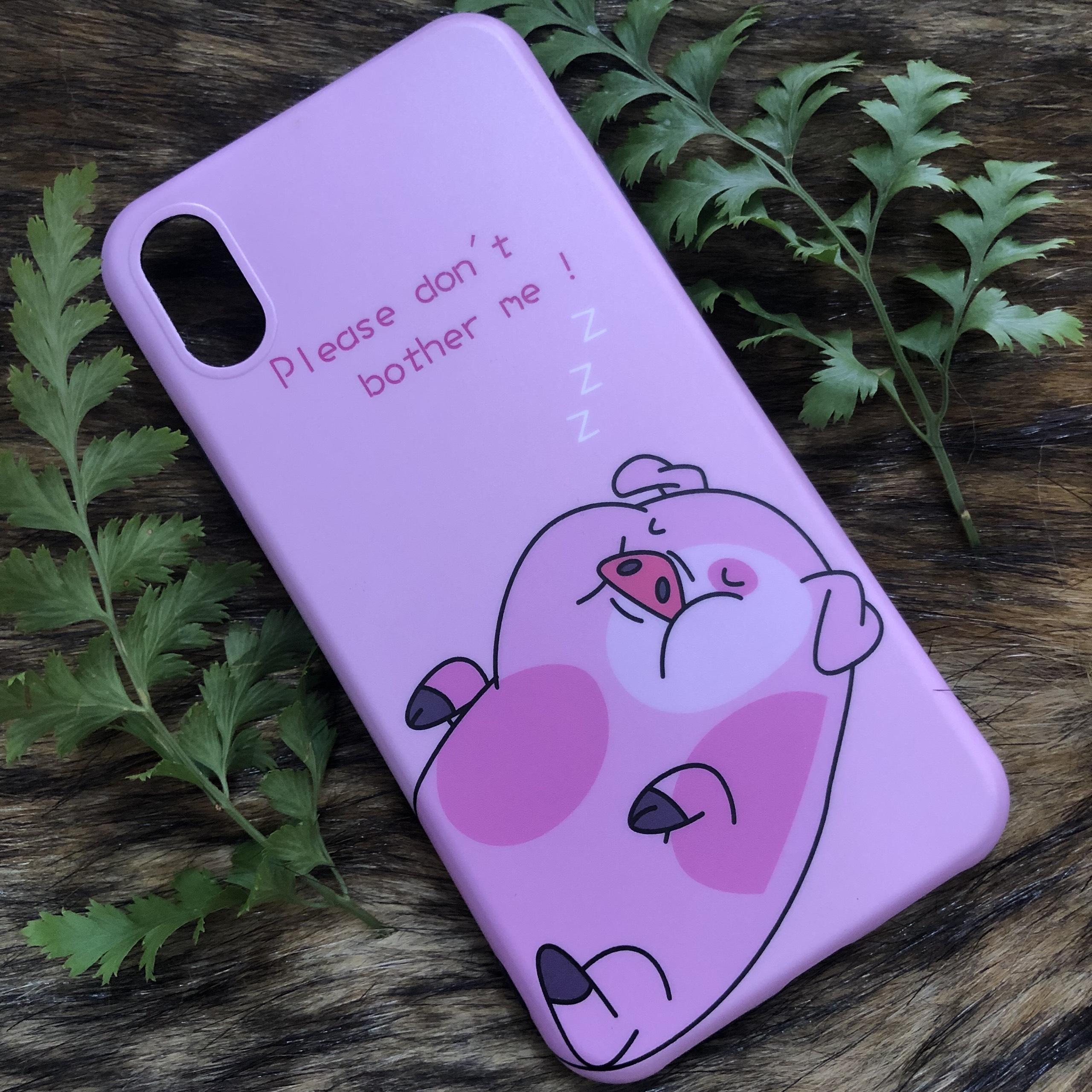 Ốp Lưng IMD Hàn Quốc Dành Cho Iphone - Hình Chú Heo - Mẫu 2
