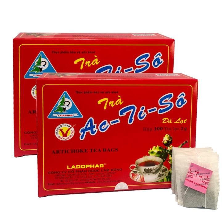 Combo 2 hộp Trà Atiso hộp 100 túi lọc