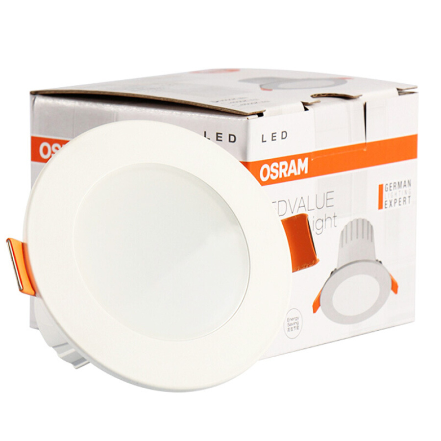 OSRAM LED Downlight Crystal Living Room Bedroom Aisle Integrated Ceiling Light Warm White Light 3 Inch 4.5W 3000K
