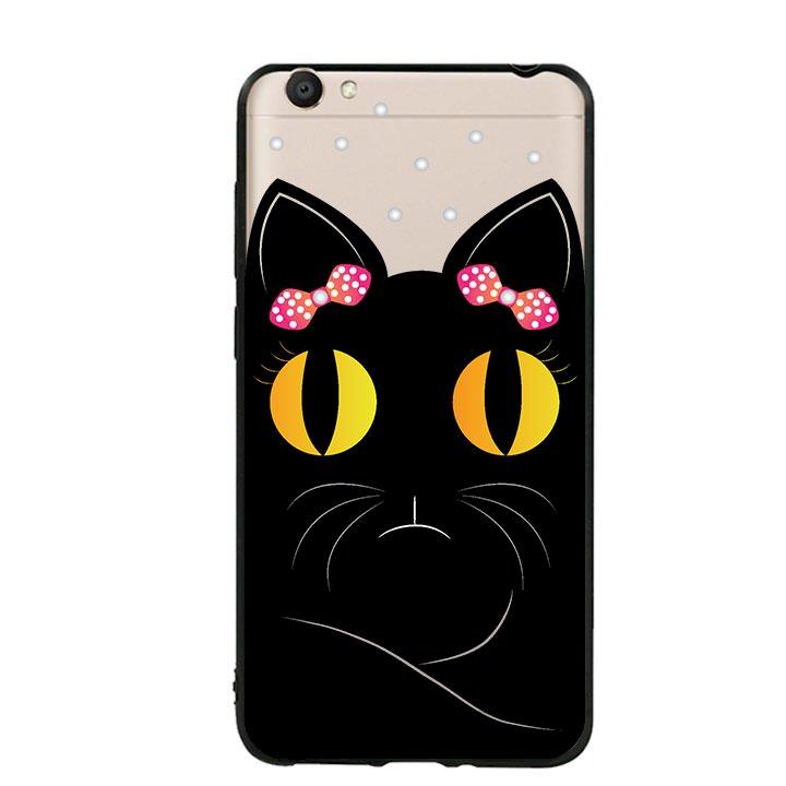 Ốp lưng viền TPU cho Vivo Y55 - Mèo Mun 02