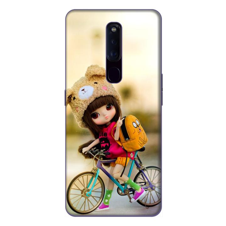 Ốp lưng điện thoại Oppo F11 Pro hình Cô Bé và Xe Đạp Mẫu 1 - Hàng chính hãng