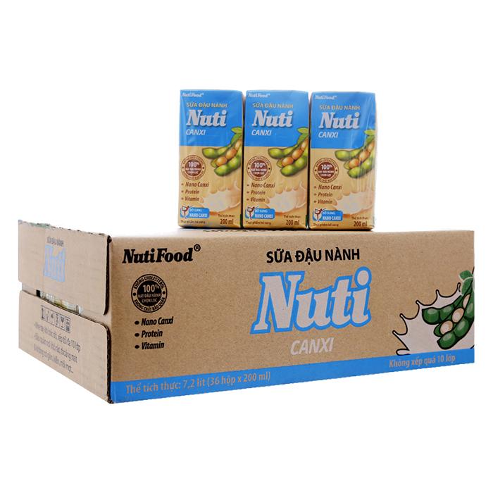 Thùng 36 Hộp Sữa Đậu Nành Nuti Canxi Nutifood (200ml) - 5820774 , 2309928192070 , 62_16534072 , 157000 , Thung-36-Hop-Sua-Dau-Nanh-Nuti-Canxi-Nutifood-200ml-62_16534072 , tiki.vn , Thùng 36 Hộp Sữa Đậu Nành Nuti Canxi Nutifood (200ml)
