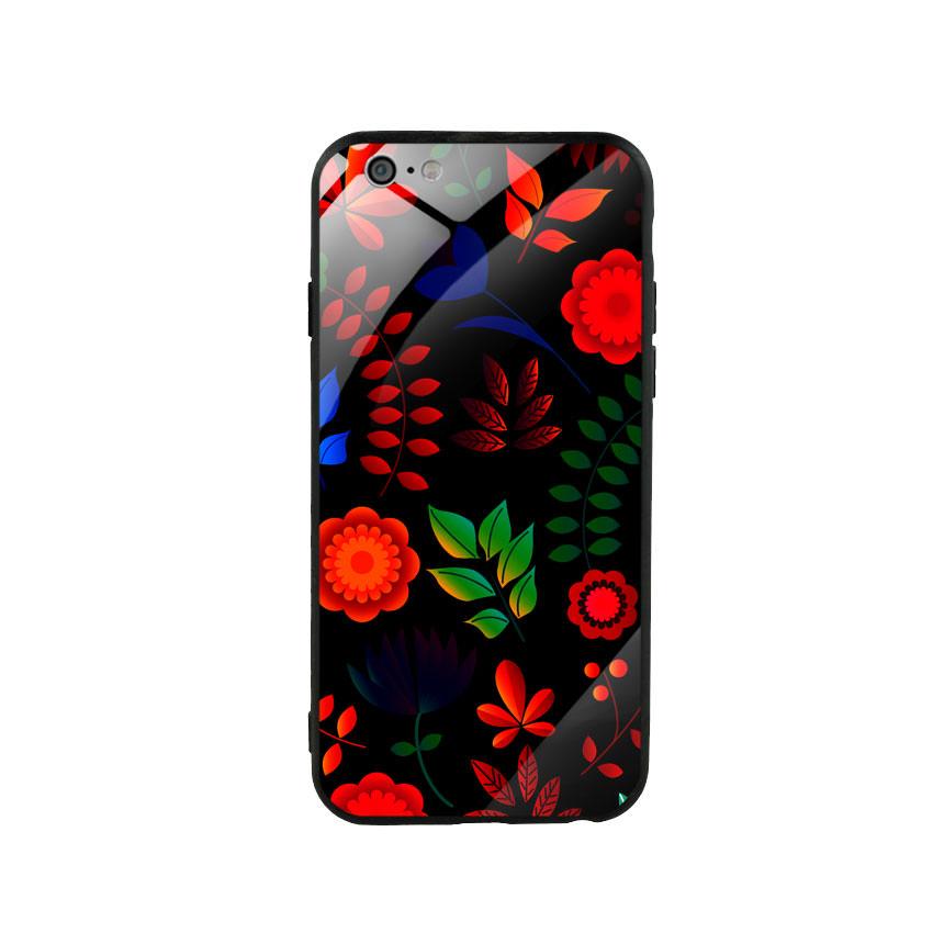 Ốp lưng kính cường lực cho điện thoại Iphone 6/6s - Flower 09