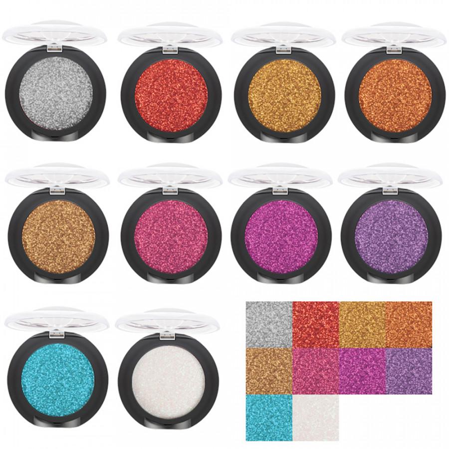 Pudaier 20 Colors Single Color Eye Shadow Shimmery Glitter Eye Shadow Diamond Makeup Pearl Metallic Eye Shadow Palette