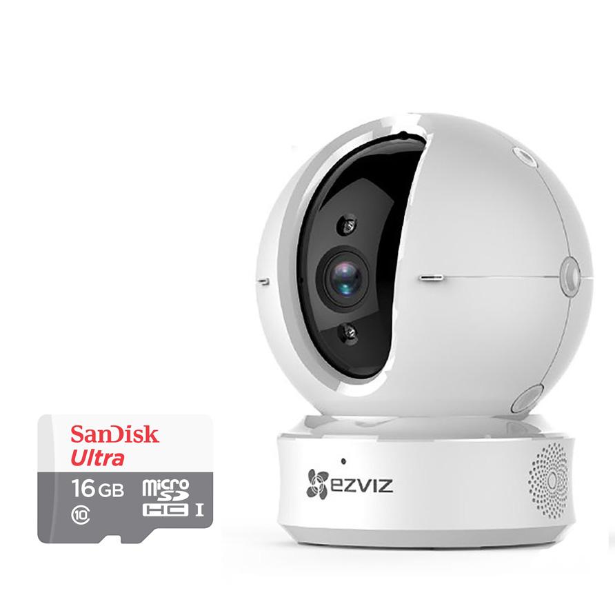 Camera Quay Quét Wifi CS-CV246 Ezviz 720P Và Thẻ Nhớ 16GB - Tặng Kèm Tai Nghe Bluetooth