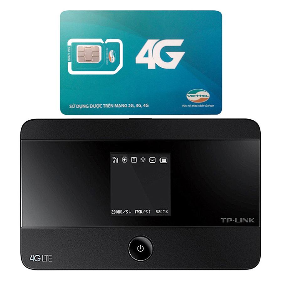 Bộ phát wifi di động 4G TP-Link M7350 tốc độ 150Mbps + Sim 3G/4G Viettel 3.5GB/Tháng - Hàng chính hãng