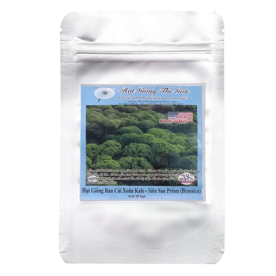 Hạt Giống Rau Cải Xoắn Siêu Sao Prism (Brassica Oleracea, Acephala) (10 Hạt)
