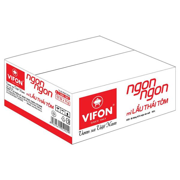 Thùng 12 Tô Mì Vifon Ngon Ngon Lẩu Thái Tôm (71g / Tô) - 1044172 , 1858643546619 , 62_3249265 , 129000 , Thung-12-To-Mi-Vifon-Ngon-Ngon-Lau-Thai-Tom-71g--To-62_3249265 , tiki.vn , Thùng 12 Tô Mì Vifon Ngon Ngon Lẩu Thái Tôm (71g / Tô)
