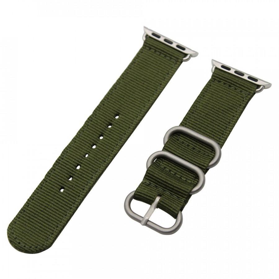 Dây đeo Nato Nylon phong cách cho Apple Watch 44mm/ 42mm/ 40mm/ 38mm
