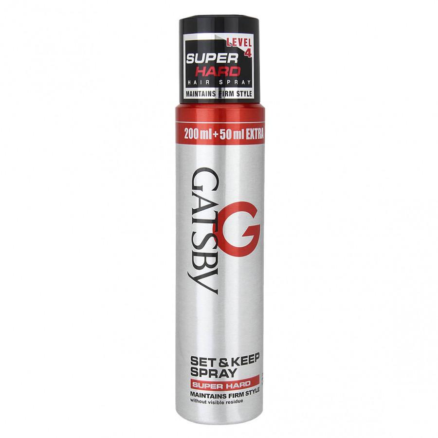 Gôm Xịt Tạo Kiểu Tóc Gatsby Set  Keep Spray Super Hard A - 100908622