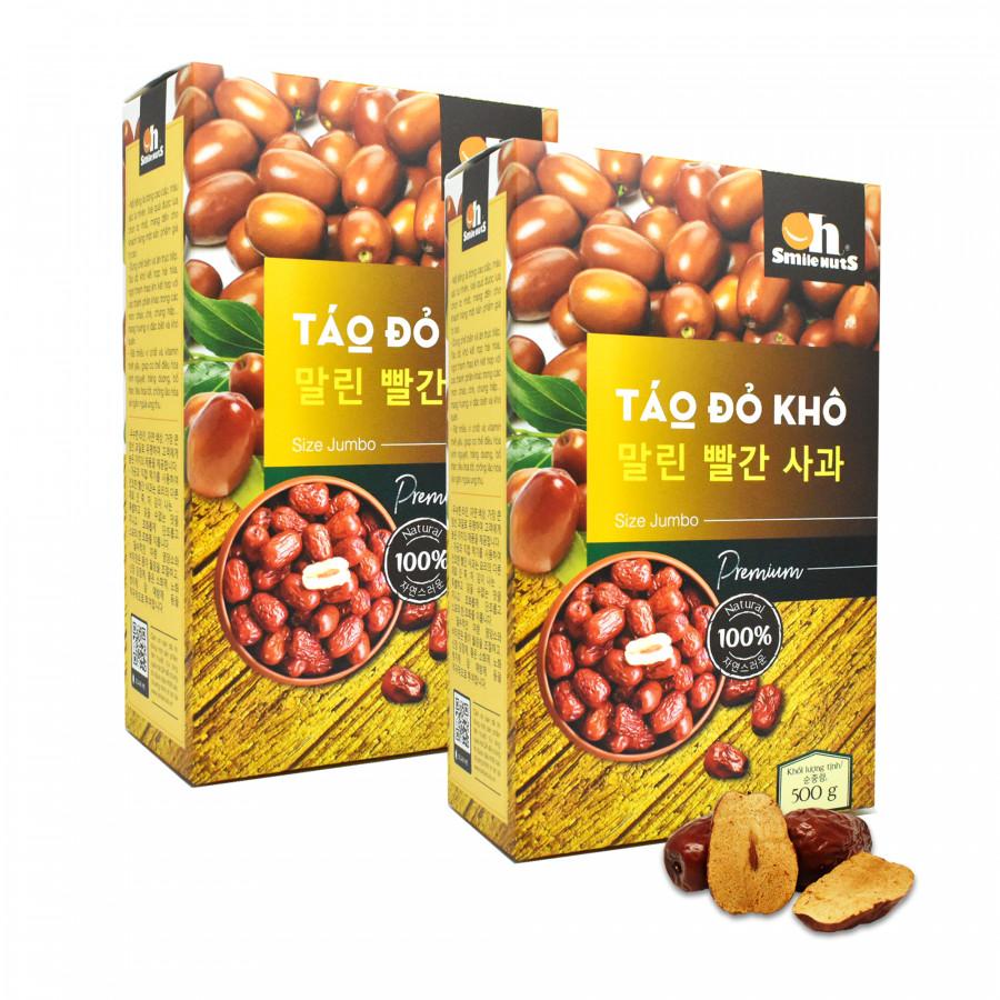 Combo 2 hộp Táo Đỏ khô thượng hạng Smile Nuts (500g/hộp) - 7507155 , 2699607319493 , 62_16176612 , 475000 , Combo-2-hop-Tao-Do-kho-thuong-hang-Smile-Nuts-500g-hop-62_16176612 , tiki.vn , Combo 2 hộp Táo Đỏ khô thượng hạng Smile Nuts (500g/hộp)