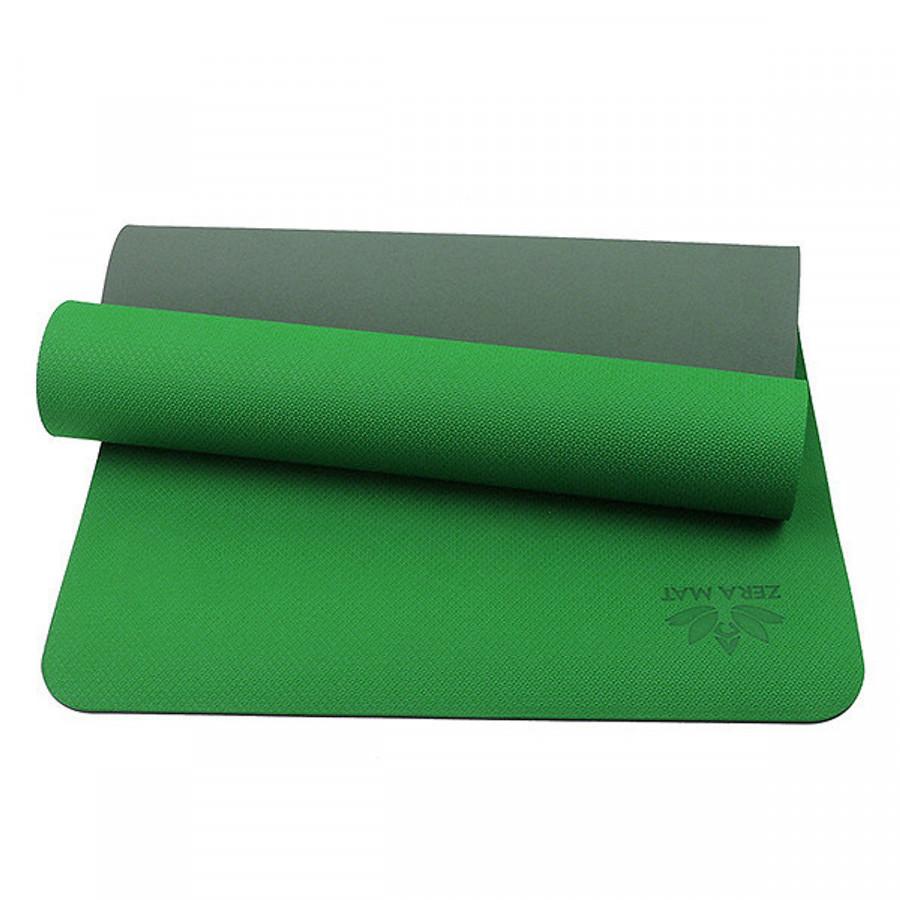 Thảm Tập Yoga TPE ZERA 8mm 2 Lớp Màu Xanh Lá Tặng Kèm túi