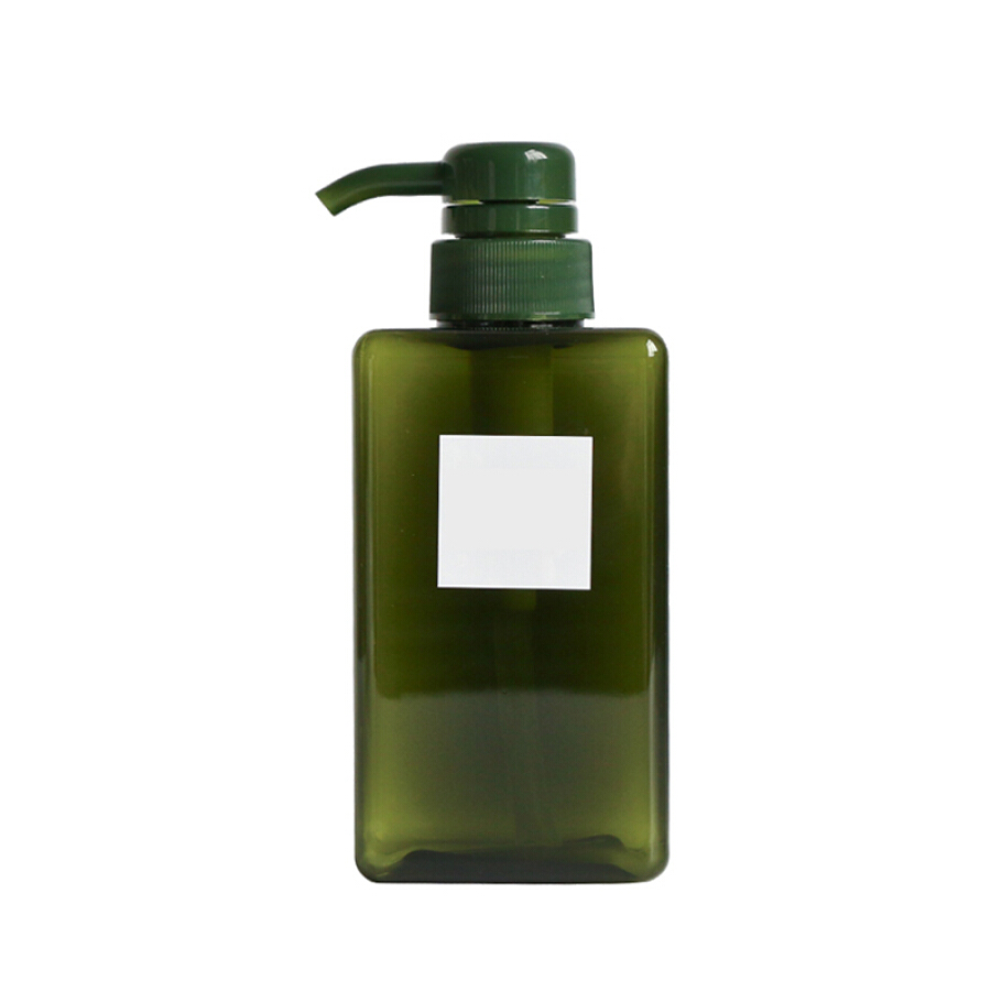 Jiebi Shi Mousse Foam Bottle Cleanser Shampoo Shower Gel Foam Quartet Bottle Hotel Bathroom Foam Cosmetics Bottle 650ml