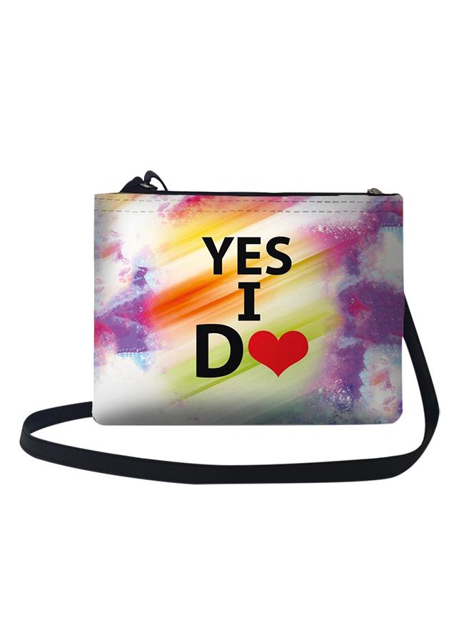 Túi Đeo Chéo Nữ In Hình Yes I Do - TUCP012 (24 x 17 cm)