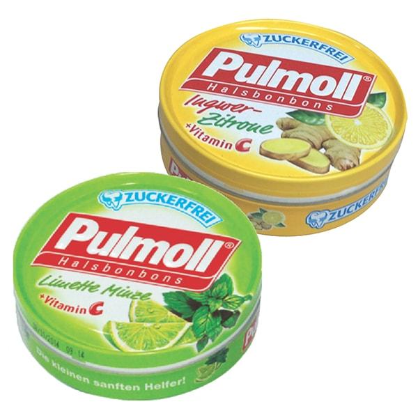 Combo 2 Hộp Kẹo Pulmoll Ingwer-Zitrone Vị Chanh Gừng (50g) + Limette Vị Chanh Muối (50g)