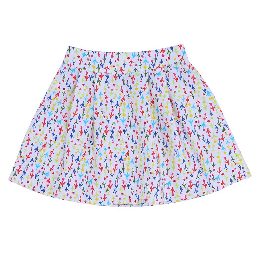 4645055868081 - Chân Váy Bé Gái Họa Tiết Cành Hoa Genii Kids - Trắng