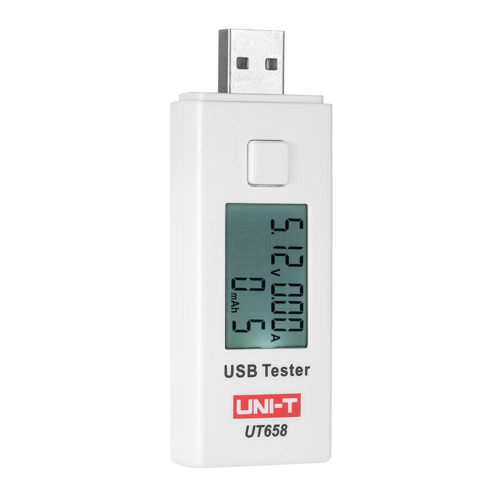 Đồng Hồ Đo Vạn Năng Kỹ Thuật Số DC / AC Cổng USB Màn Hình LCD Uni-T Ut658 (Dc3-9V 0-3A)