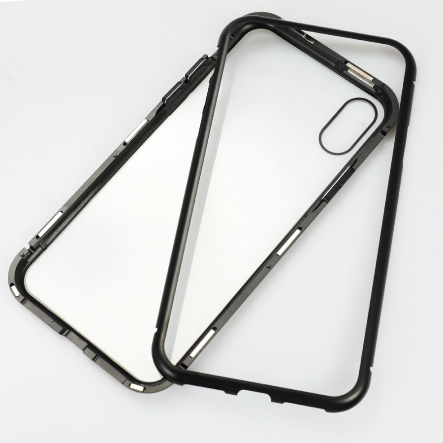 Metal-rimmed Mobile Phone Case Hardened Glass Magnetic Adsorption Protection Smartphone Cover Bumper Luxury Aluminum - 2289580 , 8815827673229 , 62_14703637 , 256000 , Metal-rimmed-Mobile-Phone-Case-Hardened-Glass-Magnetic-Adsorption-Protection-Smartphone-Cover-Bumper-Luxury-Aluminum-62_14703637 , tiki.vn , Metal-rimmed Mobile Phone Case Hardened Glass Magnetic Adsorption