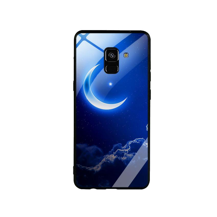 Ốp Lưng Kính Cường Lực cho điện thoại Samsung Galaxy A8 Plus -  0220 MOON01