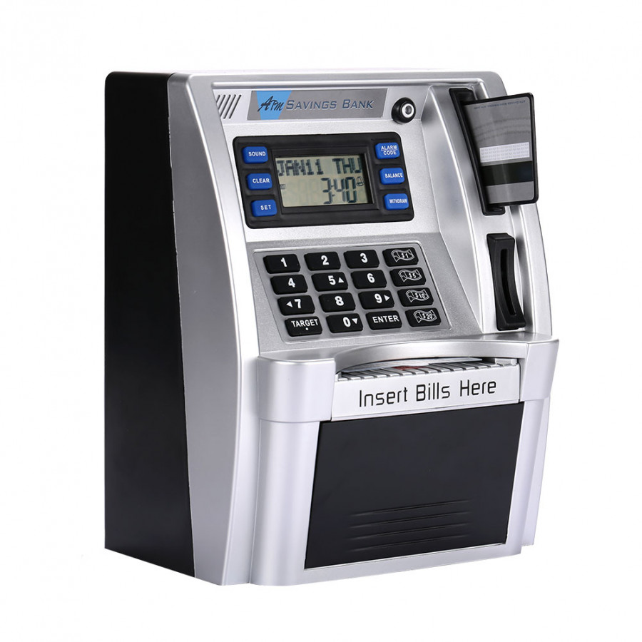 Atm Piggy Bank Atm Saving Banks Simulation With Lcd Screen Silver Voice Prompt Password Box - 1790080 , 8925014295278 , 62_13160494 , 1382000 , Atm-Piggy-Bank-Atm-Saving-Banks-Simulation-With-Lcd-Screen-Silver-Voice-Prompt-Password-Box-62_13160494 , tiki.vn , Atm Piggy Bank Atm Saving Banks Simulation With Lcd Screen Silver Voice Prompt Passw