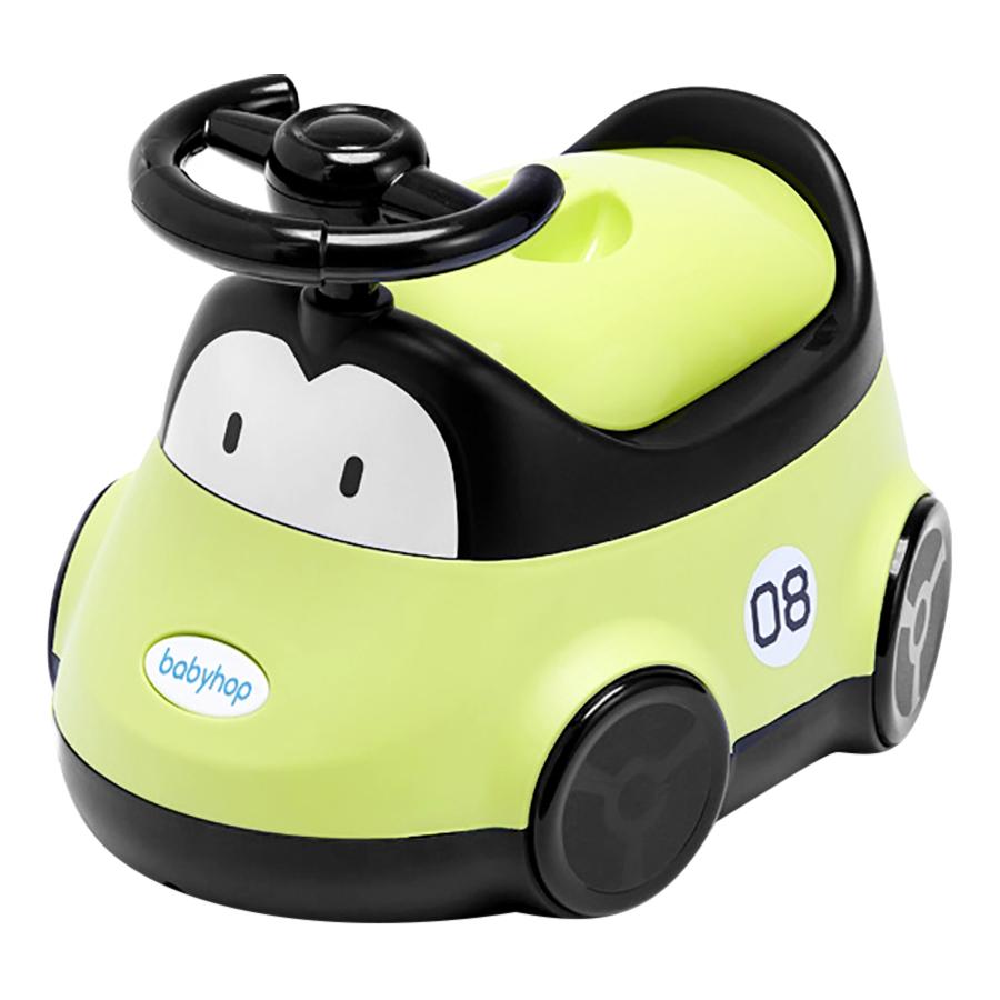 Bô vệ sinh cho bé hình Ô Tô Babyhop BH-116G - Xanh Lá