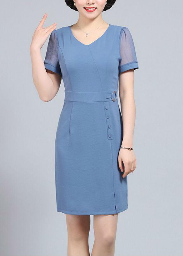 Đầm Nữ Suông Kết Nút DRESS161N