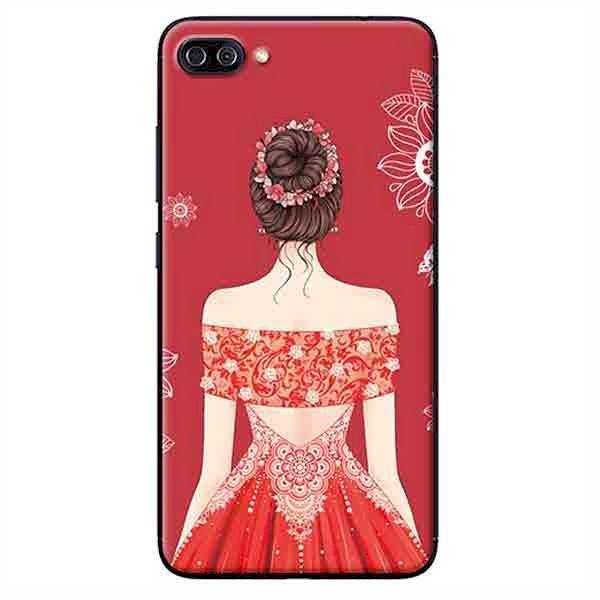 Ốp Lưng Dành Cho Asus Zenfone 4 Max Pro ZC554KL - Cô Gái Váy Đỏ Áo Xẻ Vai