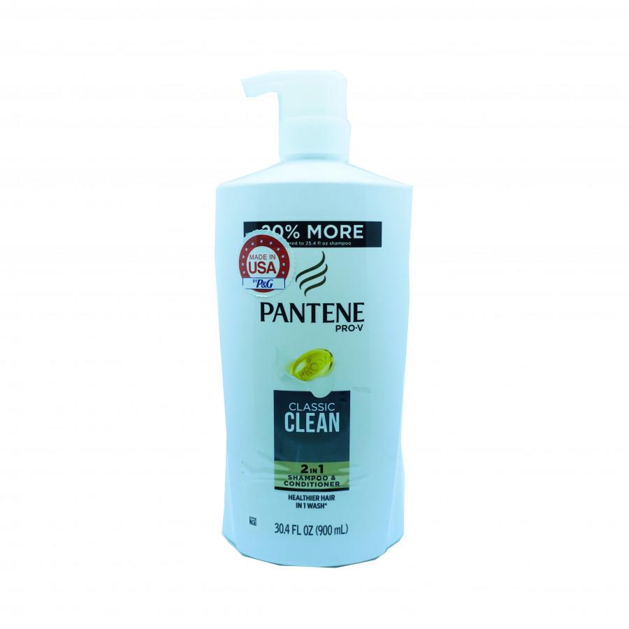 Dầu gội Pantene Clacssic Clean 2in1 900ml - Nhập khẩu Mỹ