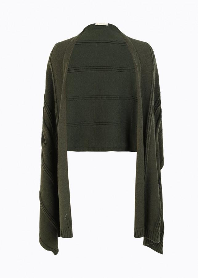 Áo choàng khăn VIENNE TRAN V65C17T004-WDS69 (Xanh rêu)