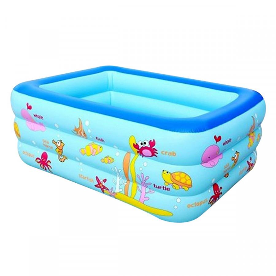 Bộ Bể Bơi 3 tầng cho bé kích thước 180cmx140cmx60cm