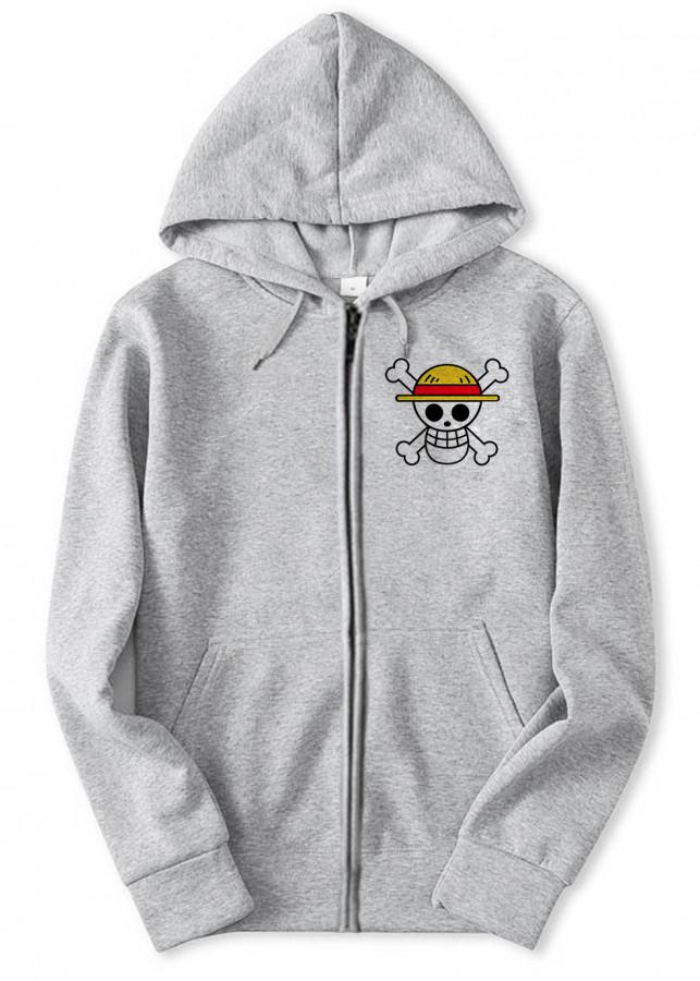 Áo Khoác One Piece Luffy Gear 4 - Xám