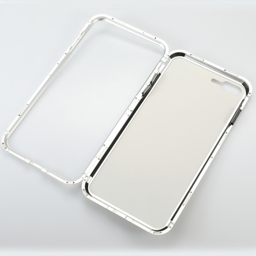 Metal-rimmed Mobile Phone Case Hardened Glass Magnetic Adsorption Protection Smartphone Cover Bumper Luxury Aluminum - 2289583 , 1826319352956 , 62_14703646 , 257000 , Metal-rimmed-Mobile-Phone-Case-Hardened-Glass-Magnetic-Adsorption-Protection-Smartphone-Cover-Bumper-Luxury-Aluminum-62_14703646 , tiki.vn , Metal-rimmed Mobile Phone Case Hardened Glass Magnetic Adsorption