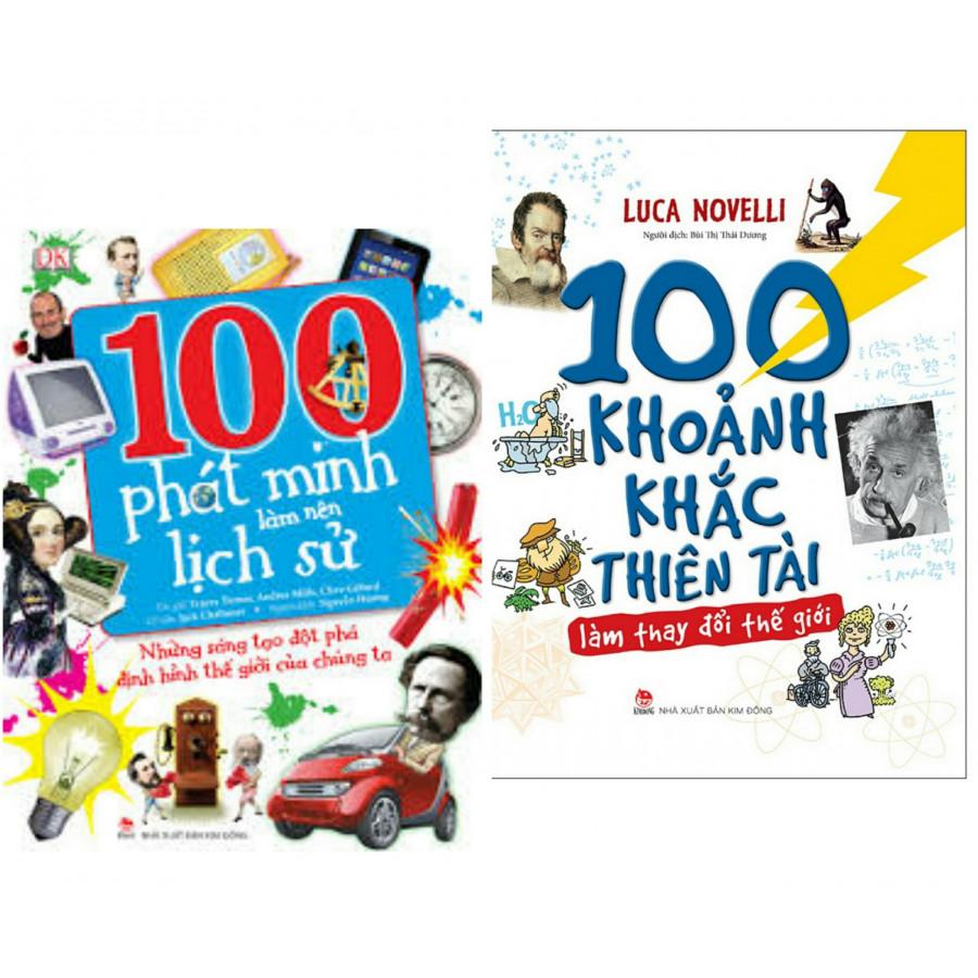 Combo sách hay về lịch sử các phát minh : 100 phát minh làm nên lịch sử + 100 khoảnh khắc thiên tài làm thay đổi thế...