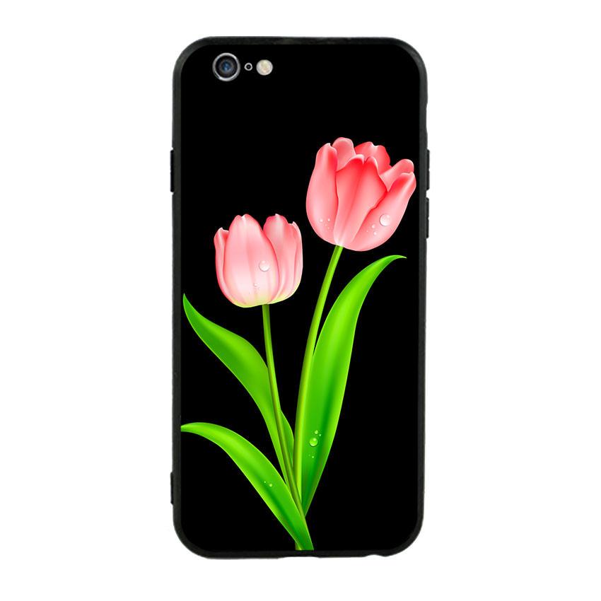 Ốp lưng nhựa cứng viền dẻo TPU cho điện thoại Iphone 6 Plus/6s Plus - Tulip 01