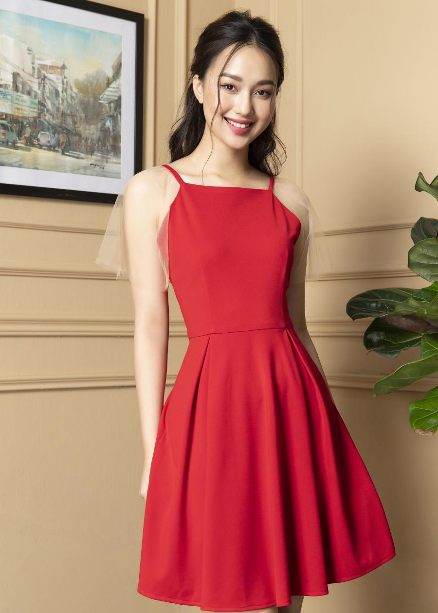 Váy yếm tay voan  VF2019018