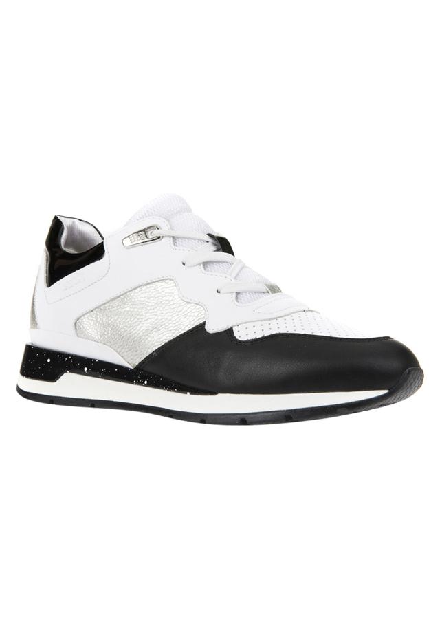 Giày Nữ GEOX D Shahira B Nap+Prl.Pr.Synt White/Silver - Trắng
