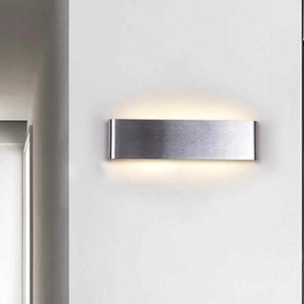Đèn gắn tường trang trí hiện đại hình chứ nhật bo góc mềm mại màu xám.