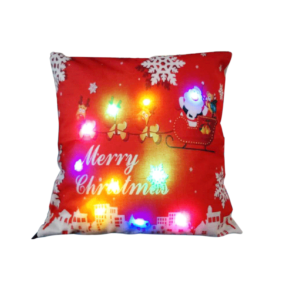 18 x 18 inches / 45 x 45cm Linen Colorful LED Light Christmas Cushion Cover Decorative Sofa Car Throw Pillow Case - 16727950 , 2963891040310 , 62_28335046 , 218400 , 18-x-18-inches--45-x-45cm-Linen-Colorful-LED-Light-Christmas-Cushion-Cover-Decorative-Sofa-Car-Throw-Pillow-Case-62_28335046 , tiki.vn , 18 x 18 inches / 45 x 45cm Linen Colorful LED Light Christmas C