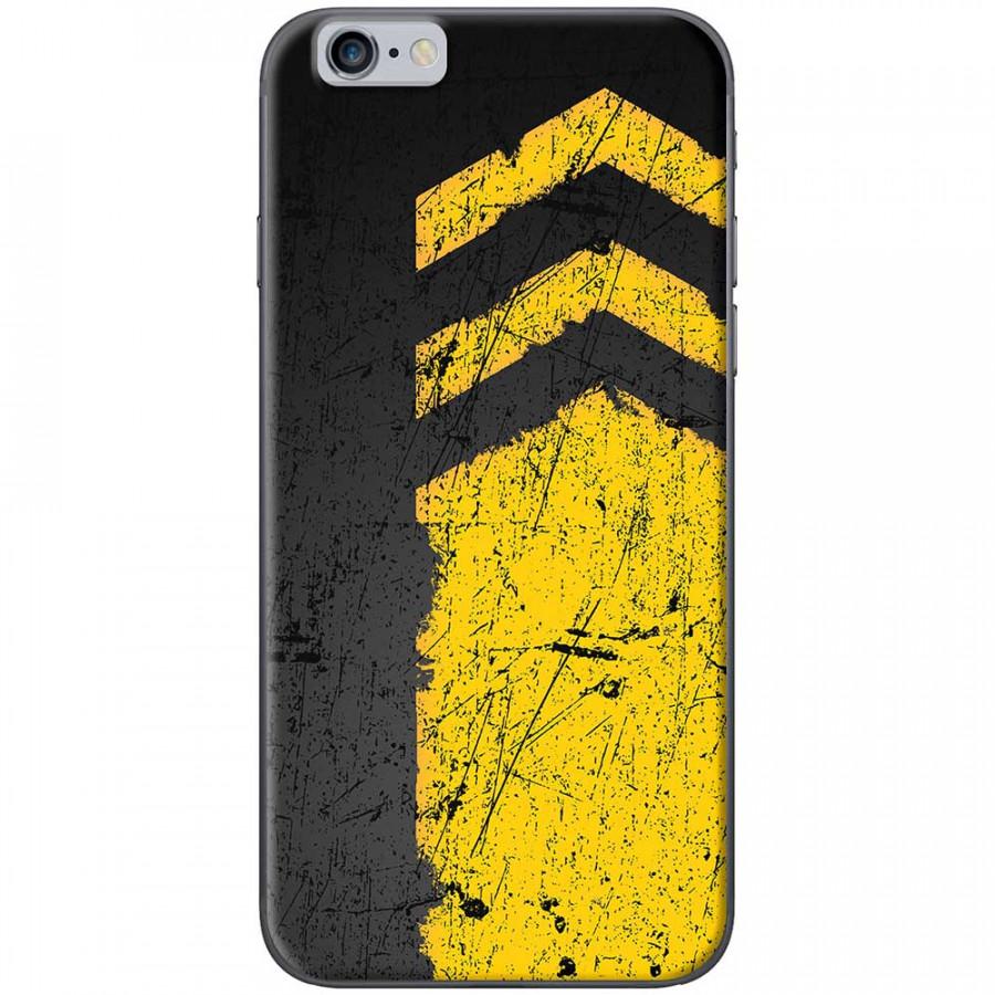Ốp lưng dành cho iPhone 6 Plus, iPhone 6S Plus mẫu Sọc vàng nền đen